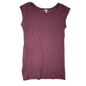 Victorias Secret Short Sleeve Tunic Top S Red